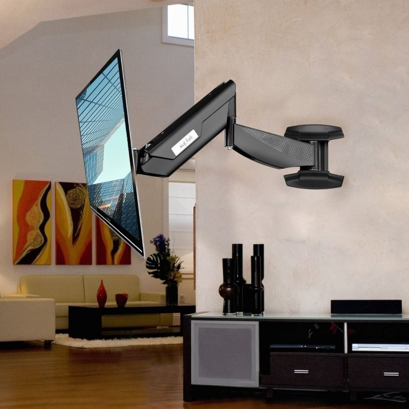 suptek tv wall mount articulating arm monitor bracket up. Black Bedroom Furniture Sets. Home Design Ideas