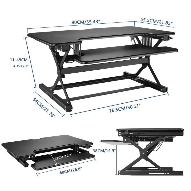 Suptek 35 Quot Wide Platform Height Adjustable Standing Desk