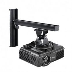 Suptek Black Universal Projector Ceiling Mount Bracket Fits Wall Height Adjustable for LCD/DLP Projectors (PR04)