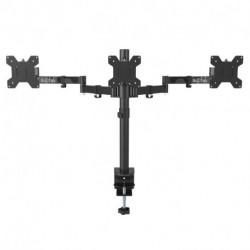 "Suptek Fully Adjustable Triple Arm Three LCD LED Monitor Desk Stand Mount Bracket for 13""-27"" Screens Max VESA 100x100 MD6463  UPC: 739450799430"