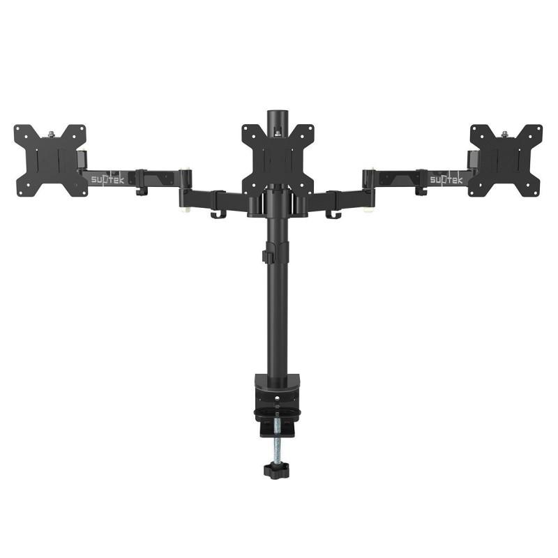 Suptek Fully Adjustable Triple Arm Three Lcd Led Monitor