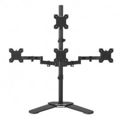 """Suptek Quad ArmMonitor Stand Desk Mount Bracket 3 + 1 free Stand / Holds Four Screens up to 27""""  - Max VESA 100x100 ML6864(EAN:0739450799454)"""