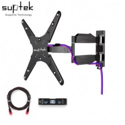 """Suptek MA4263 TV Wall Mount with Full Motion Articulating for most 30""""-55"""" Screen up to 88lb VESA400x400 HDMI Cable (EAN: 0739450799225)"""