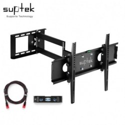 """Suptek Articulating TV Mount for 26""""-50"""" TV with VESA up to 400x400 Full Motion with HDMI Cable & Bubble Level MA109S (EAN: 0739450799263)"""