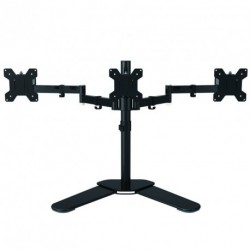 "Suptek Fully Adjustable Triple Arm LCD LED Monitor Stand Desk Mount Bracket for 13""-27"" Screens w Swivel Arm - Max VESA 100x100"