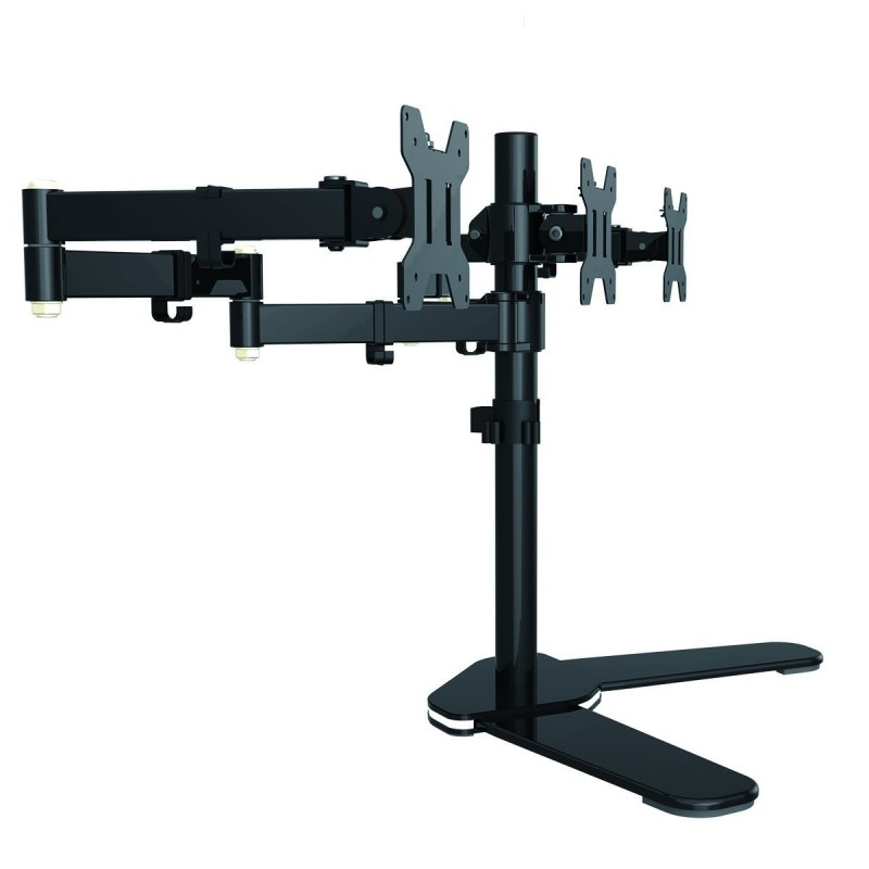 Suptek Fully Adjustable Triple Arm Lcd Led Monitor Stand